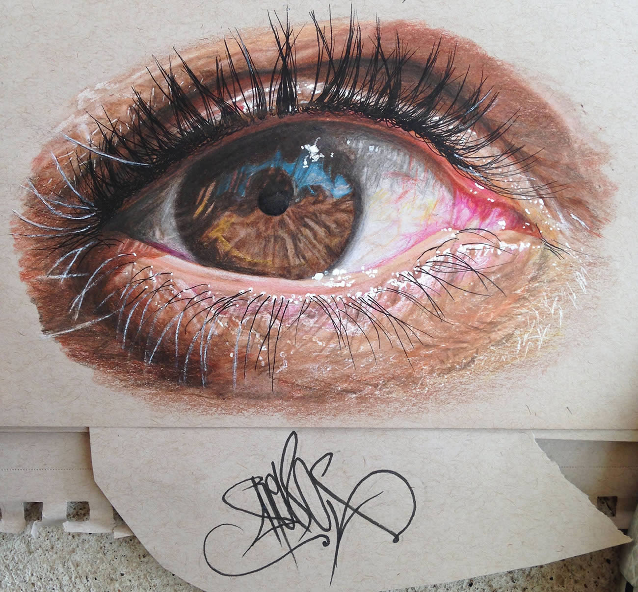1300x1208 Hyperrealistic Eyes Drawn With Colored Pencils Colossal