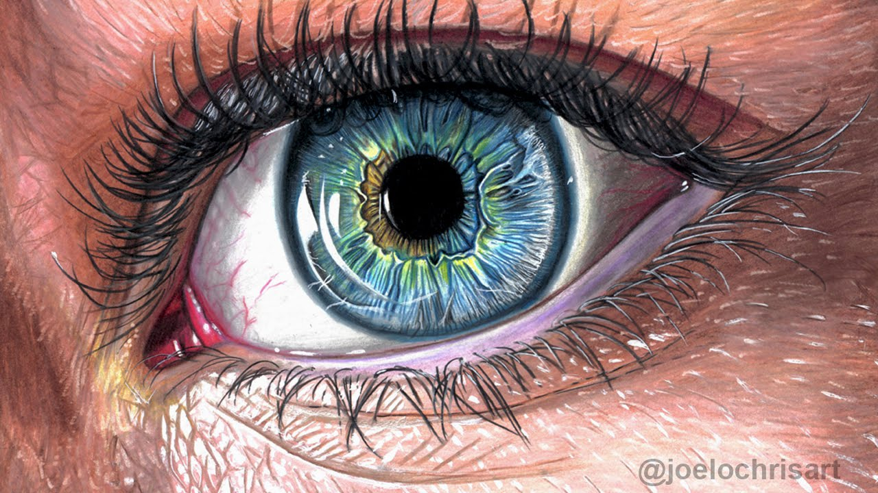 1280x720 Realistic Drawing Colored Pencil How To Draw A Realistic Eye