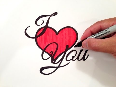 480x360 How To Draw I Love You With A Heart
