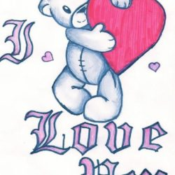 250x250 I Love You Drawing, Pencil, Sketch, Colorful, Realistic Art Images