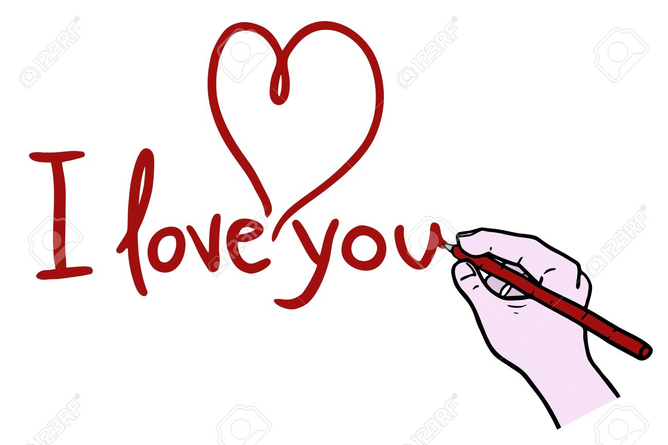1300x866 I Love You Drawing Royalty Free Cliparts, Vectors, And Stock