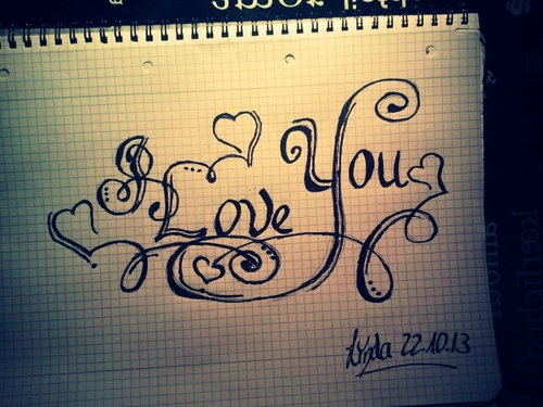 500x375 I Draw Something For You It Say's I Love You.