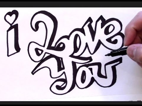 480x360 How To Draw I Love You In Graffiti