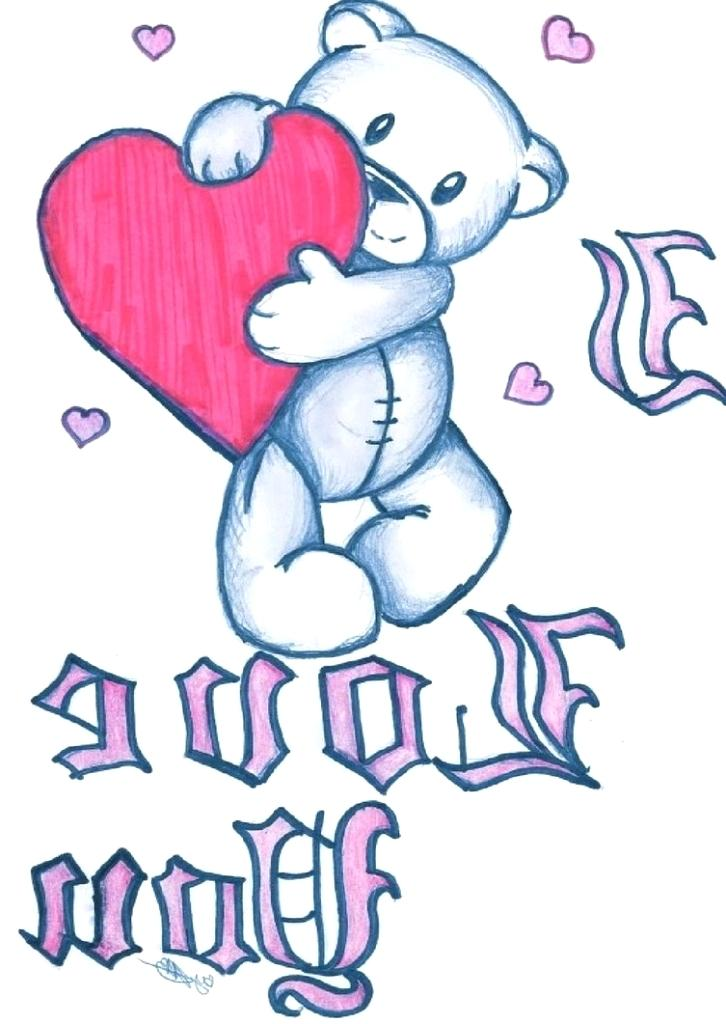 726x1024 I Love You Drawings I Love You Drawing Heart Of I Love You