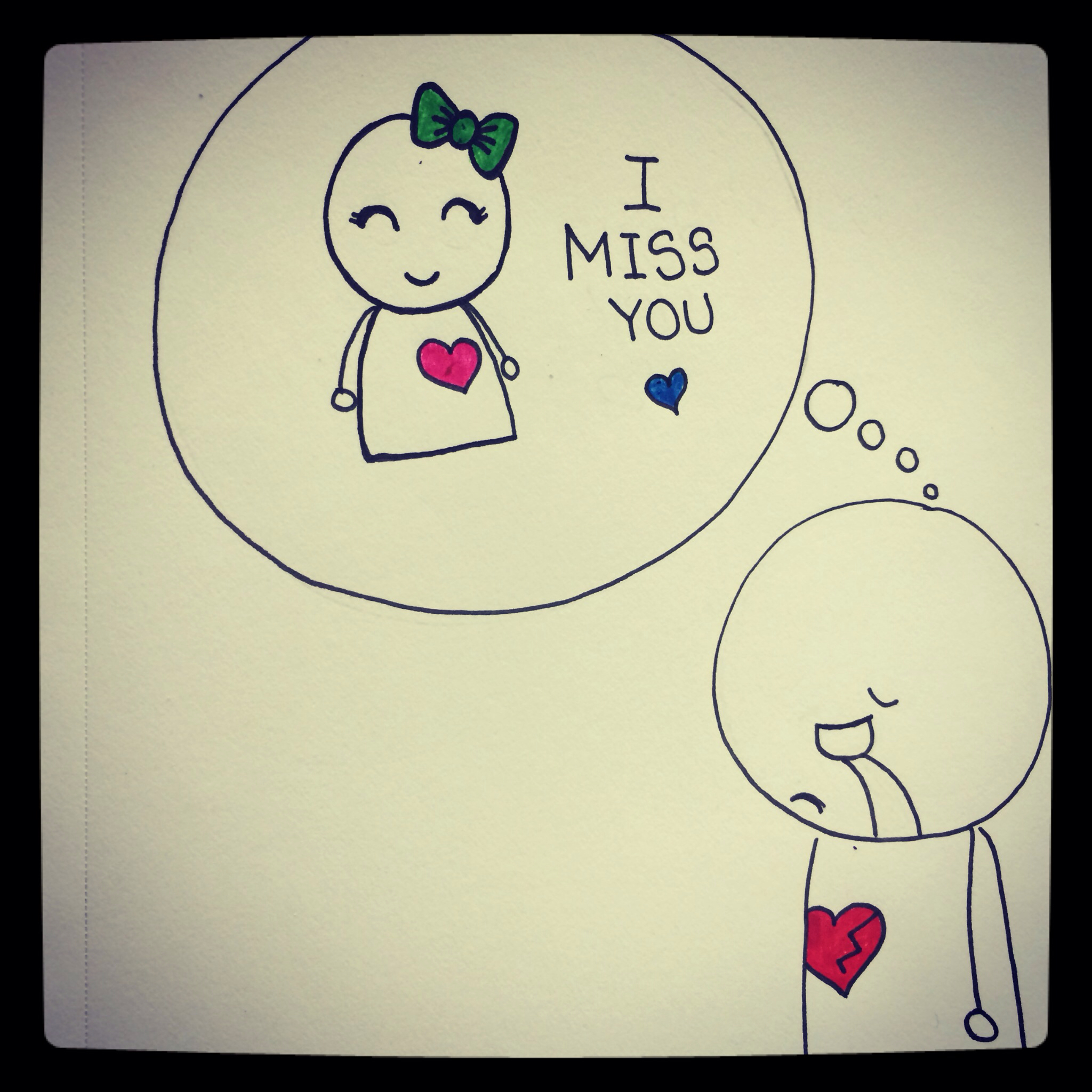 2048x2048 Miss You Easy Beautiful Drawings I Love You Cute Drawing Quotes