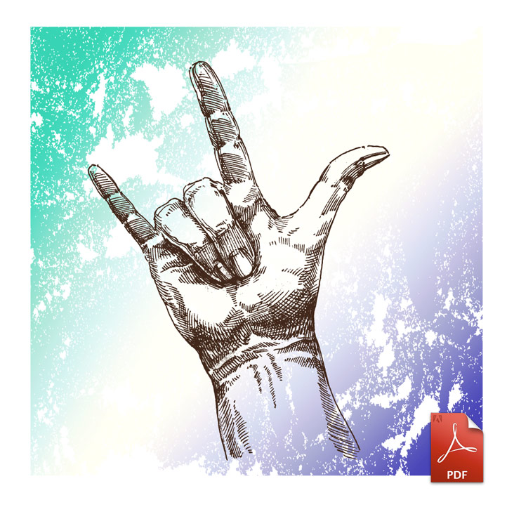 I Love You Sign Language Drawing At Getdrawings Free For