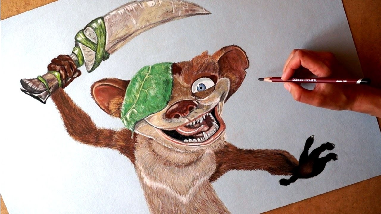 1280x720 Drawing Buck Cartoon Character From Ice Age.
