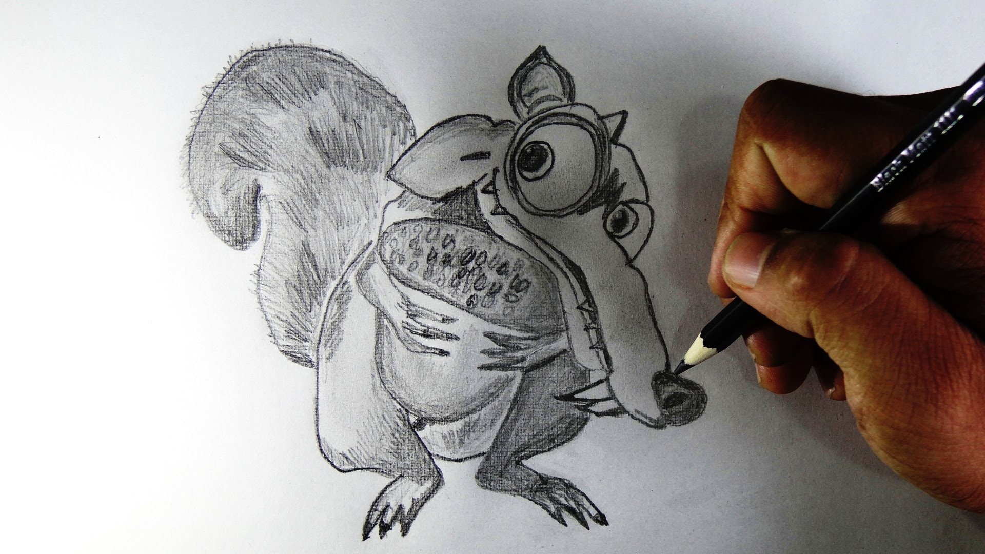 1920x1080 How To Draw Scrat The Most Loved Ice Age Fame Cartoon Character