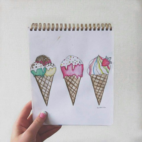 500x500 Ice Cream Drawing Uploaded By Suzanna Zijlstra