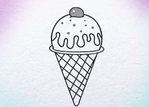 300x217 How To Draw Ice Cream Step By Step For Kids Drawing Website Www