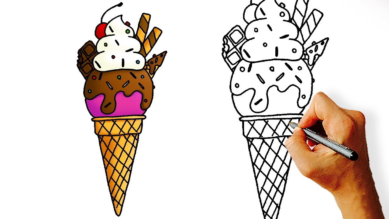Ice Cream Drawing Cartoon At Getdrawingscom Free For Personal Use