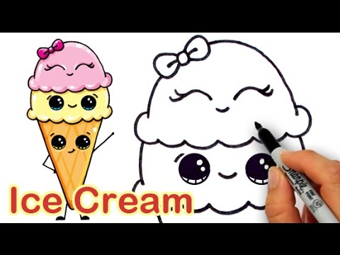480x360 How To Draw Cartoon Ice Cream On A Cone Cute And Easy