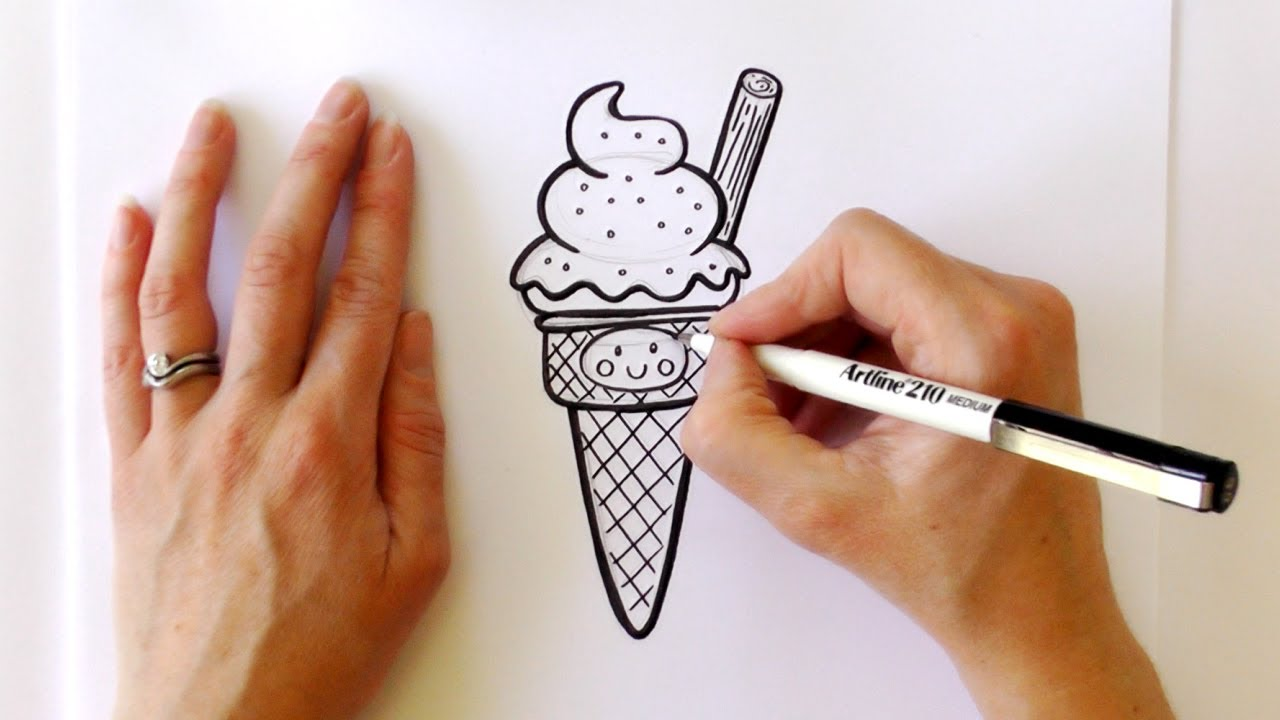 1280x720 How To Draw A Cartoon Ice Cream Cone