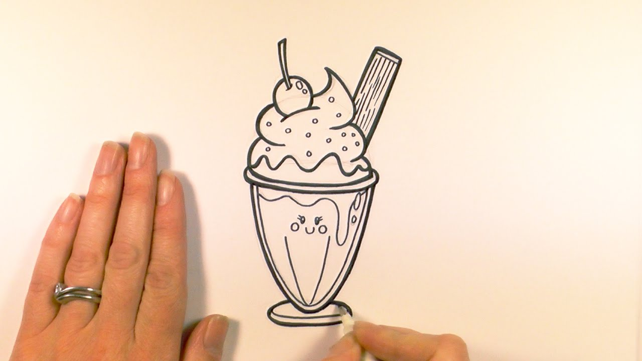 1280x720 How To Draw A Cartoon Ice Cream Sundae