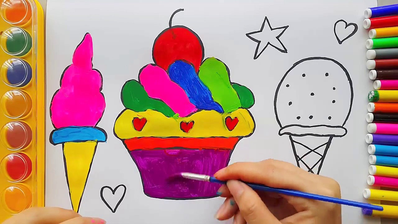 1280x720 How To Draw Numbers And Colorful Hands For Kids Learning Colors (1