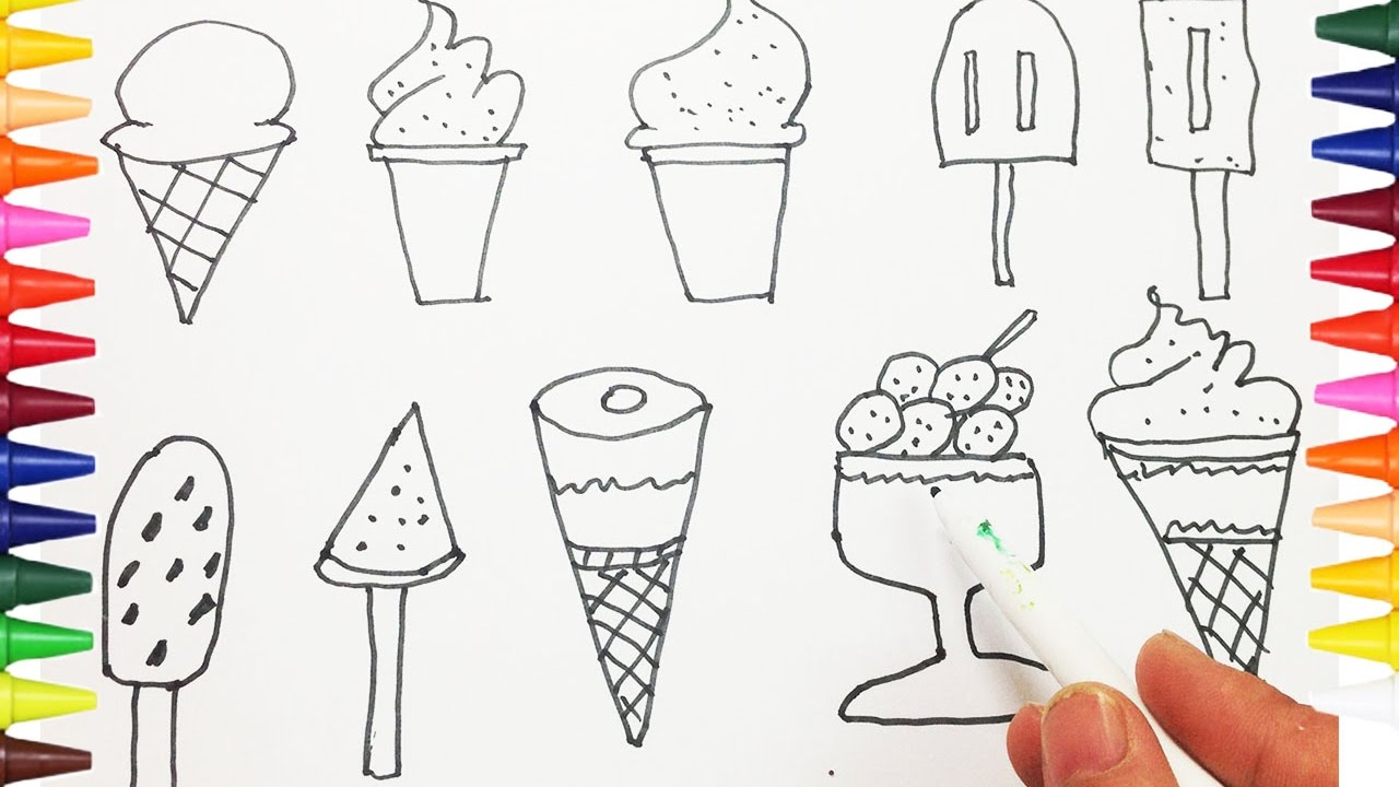1280x720 How To Drawing And Coloring Ice Cream For Kids
