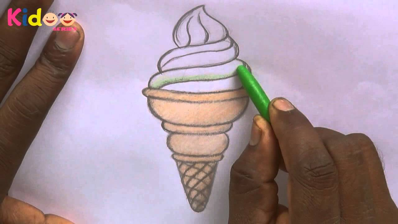 1280x720 Ice Cream Drawing Learning For Kids! Easy Tutorials