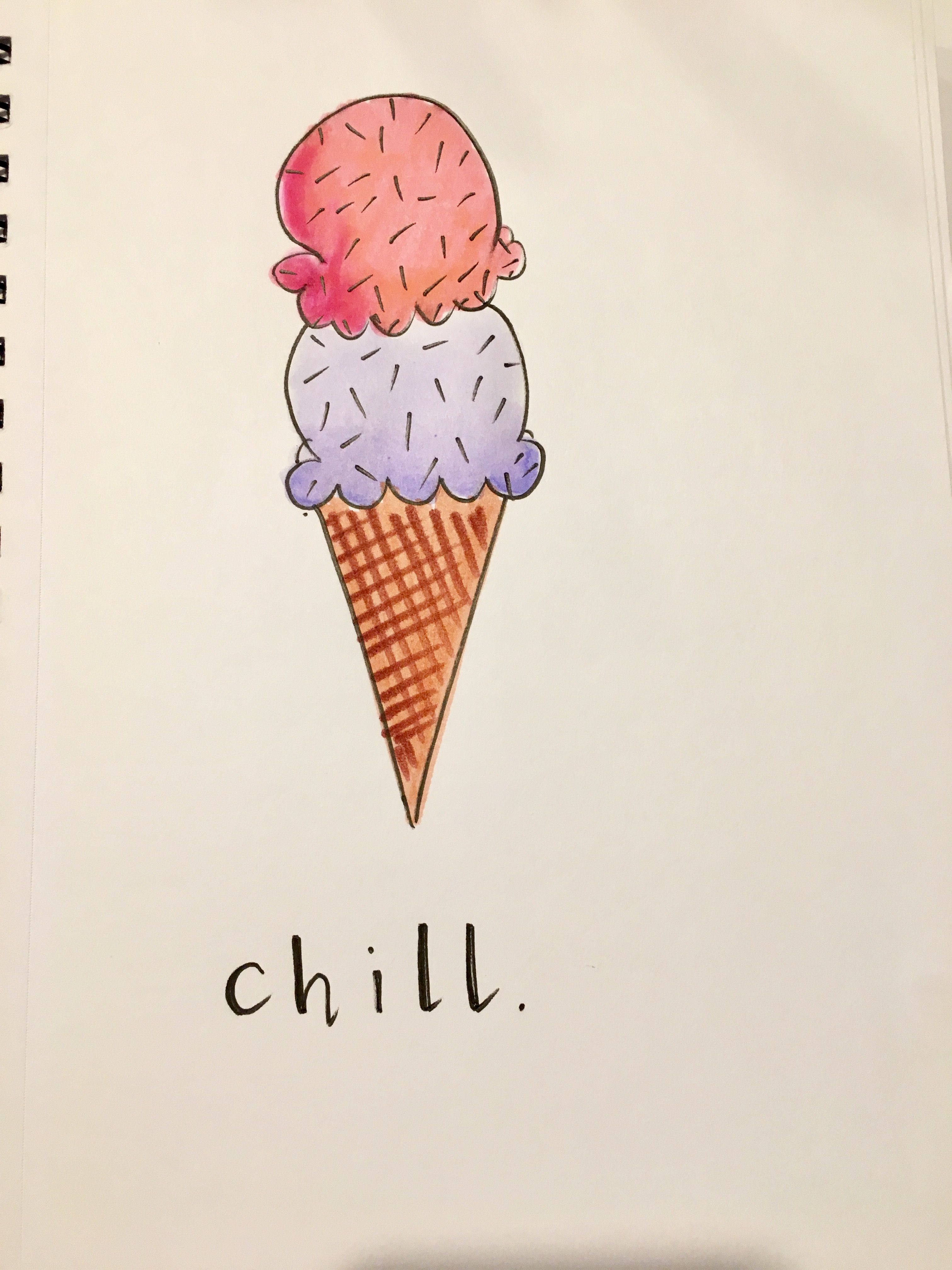 3024x4032 I Love Ice Cream And Want It Everyday!! This Cute Drawing Is Made