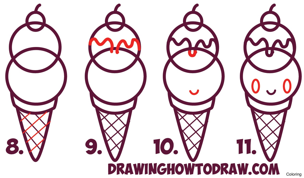 1266x742 Ice Cream Drawing Cone Coloring Page Ideas 10f Games Wallpaper