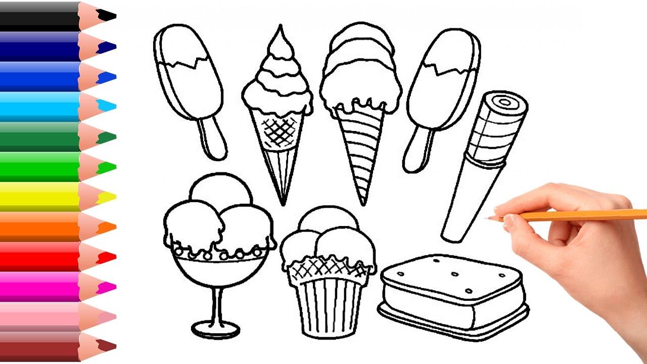 1280x720 Coloring Ice Cream