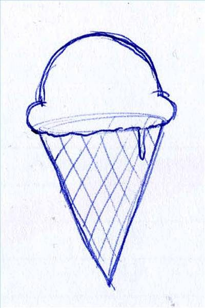 400x600 How To Draw Ice Cream (With Pictures) Ehow