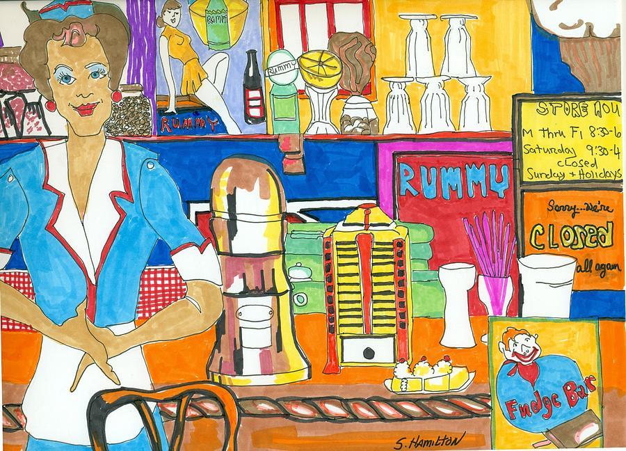 900x648 Ice Cream Shop Drawing By Sarah Hamilton