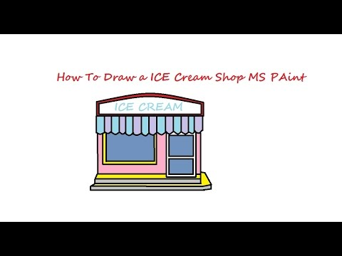 480x360 How To Draw A Ice Cream Shop Use Microsoft Paint