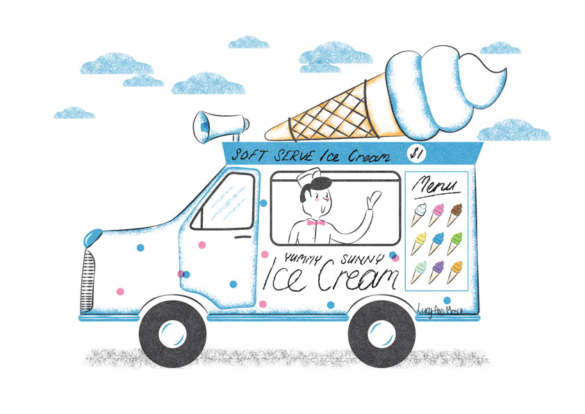 842x596 Ice Cream Truck Illustration A Week