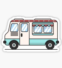 210x230 Ice Cream Truck Drawing Stickers Redbubble