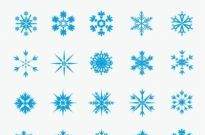 205x135 Ice Crystal Snowflakes Vector Graphic