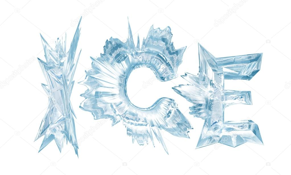 1023x614 Ice. Ice Crystal Letters Stock Photo Ivn3da