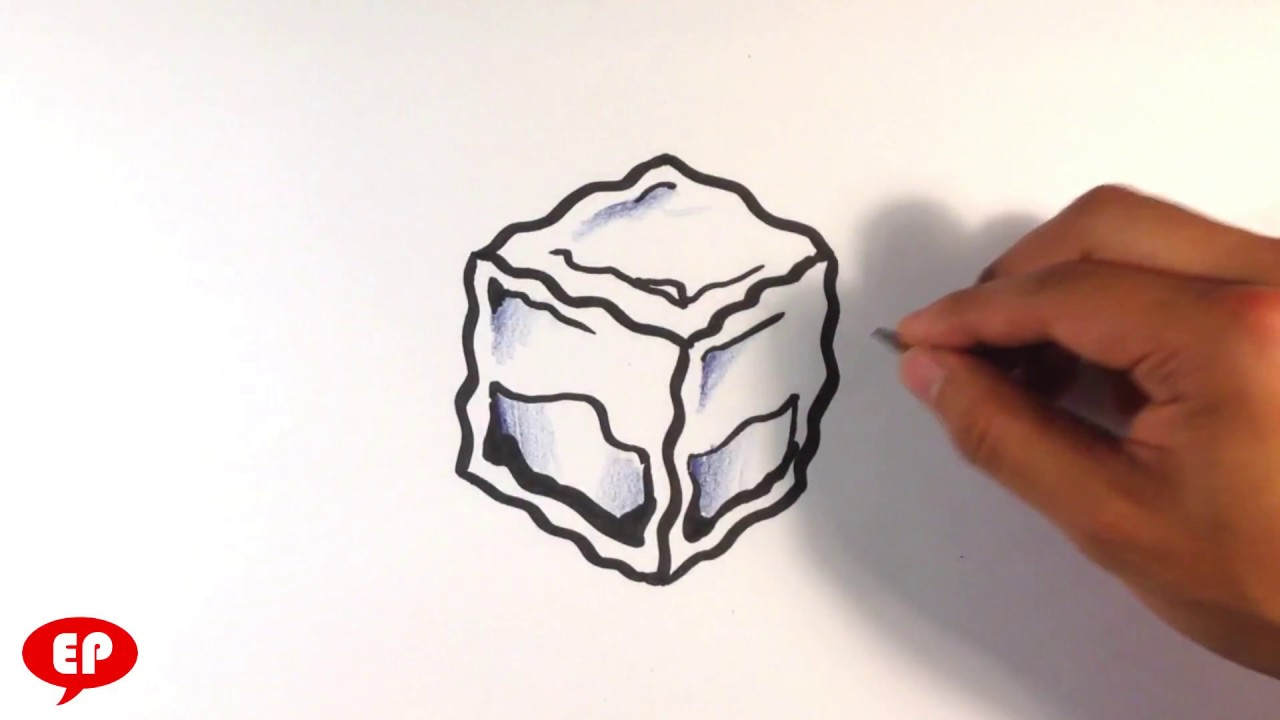 1280x720 How To Draw An Ice Cube