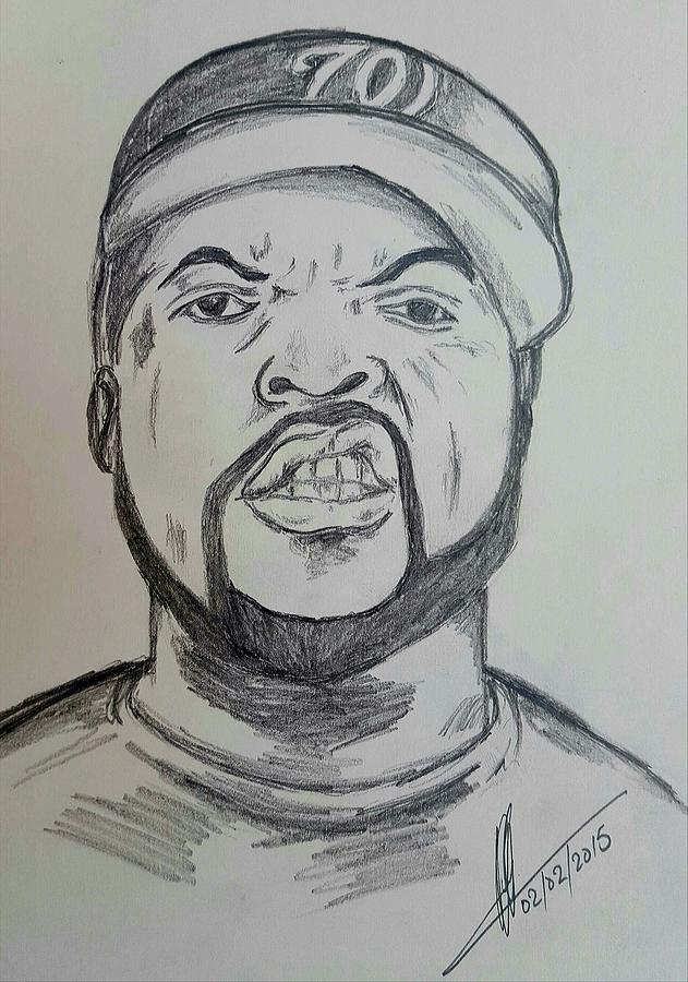 631x900 Ice Cube Drawing By Collin A Clarke