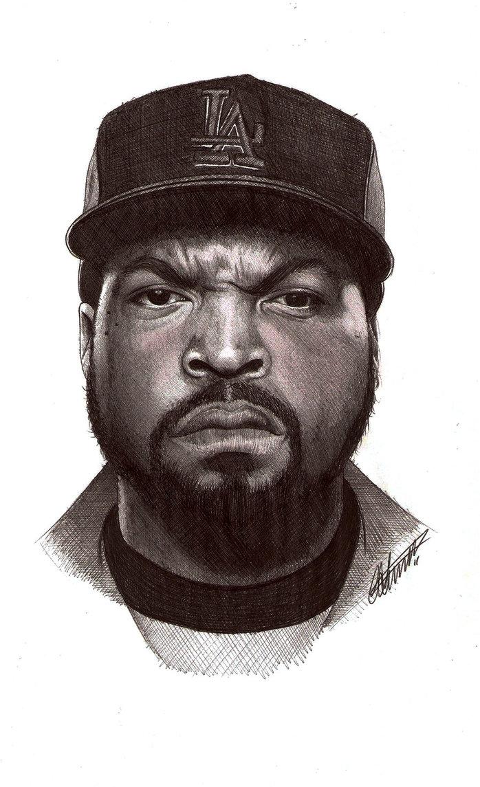 698x1145 Ice Cube Biro Portrait By Craig Stannard