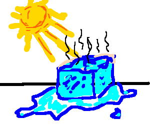 300x250 Melting Ice Cube