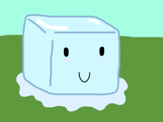 320x240 This Is Ice Cube From The Bfdi Series. I'M Not Really Good