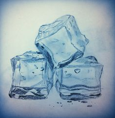 236x243 Ice Cube Drawing By Marokotasevski Art Ice Cube
