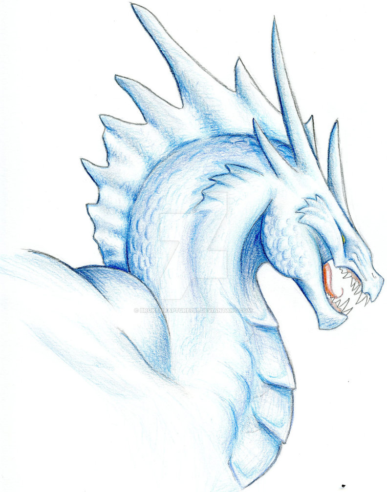 792x1008 Blue Ice Dragon By Brokenrapture781