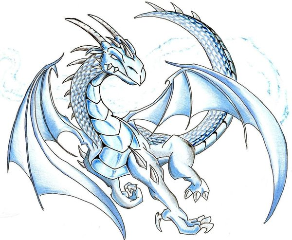 600x493 Ice Dragon By 7theaven