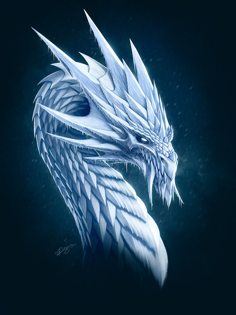 774x1032 Ice Dragon By Deligaris