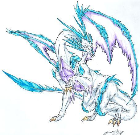 454x437 Ice Dragon By Sinnabelle
