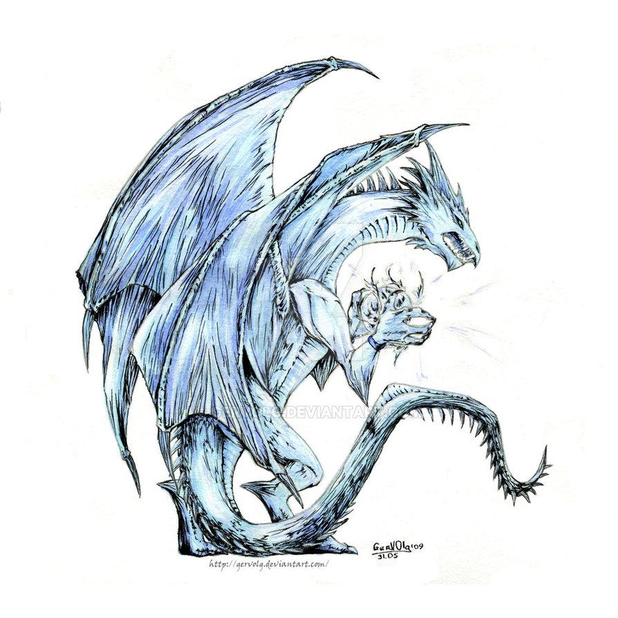 894x894 Ice Dragon By Gervolg