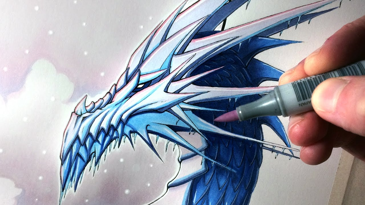 1280x720 Let's Draw An Ice Dragon
