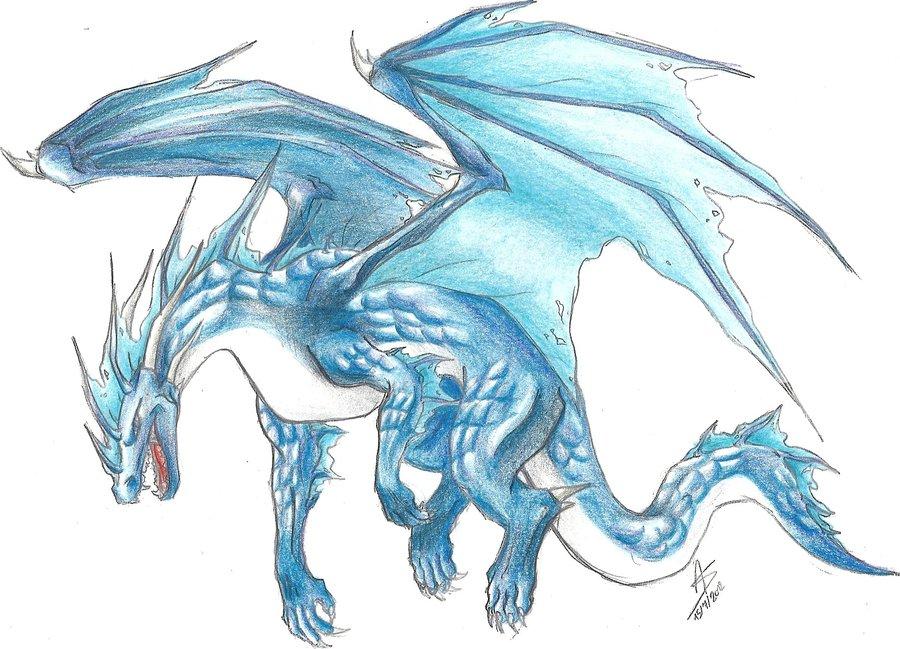 900x649 Waterice Dragon (Colored) By Snoeyske