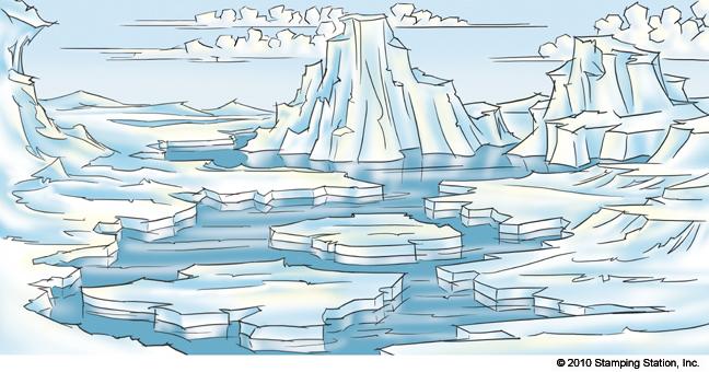 648x340 Arctic Landscape Drawing, Et Al