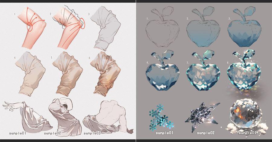 900x471 Drawing Fabrics And Ice By Kawacy