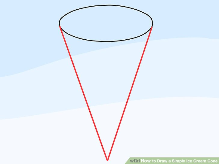 728x546 How To Draw A Simple Ice Cream Cone 11 Steps (With Pictures)