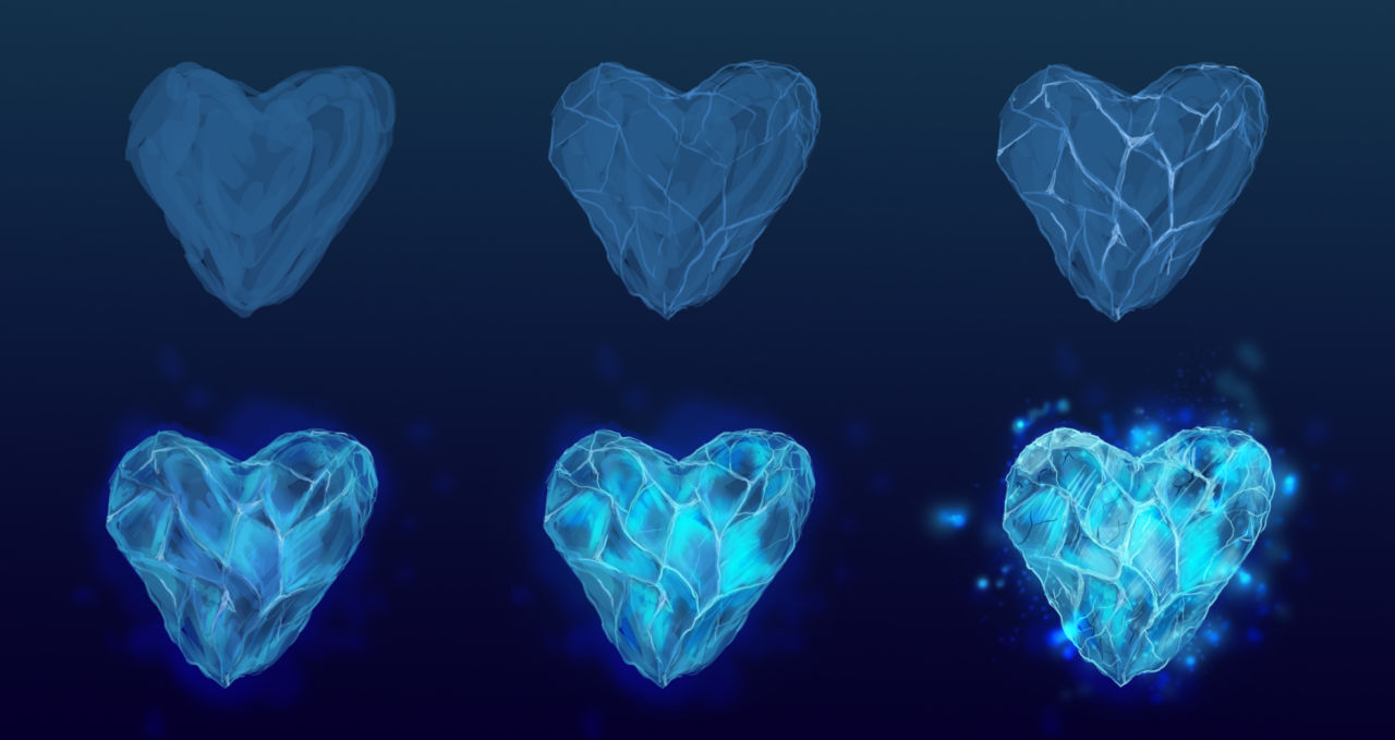1280x679 Ice Heart Drawing Progress Photoimage By Aeonsephirah Fliiby
