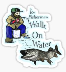 210x230 Ice Fishing Drawing Stickers Redbubble