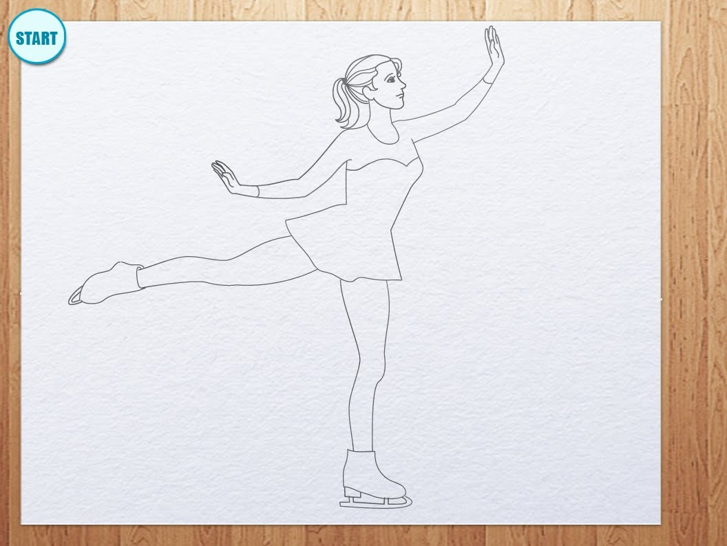 1056x793 How To Draw Figure Skating